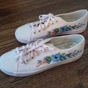 Pink floral rifle paper co. Keds (new) Size 9.5